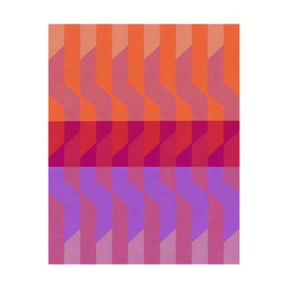 Abstract Fine Art Print, Color Ideas 28 - Tangerine, Plum & Ultraviolet by Jessica Poundstone For Sale