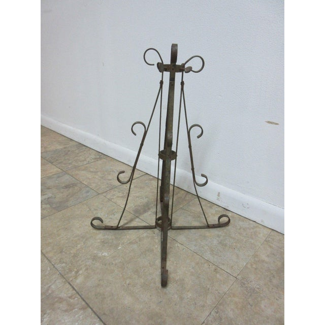 Antique Wrought Iron Scroll Flag Pole Music Stand Ceremonial For Sale - Image 4 of 11