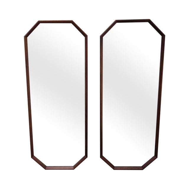 George Nelson for Herman Miller Walnut Frame Wall Mirrors - Pair - Image 1 of 10