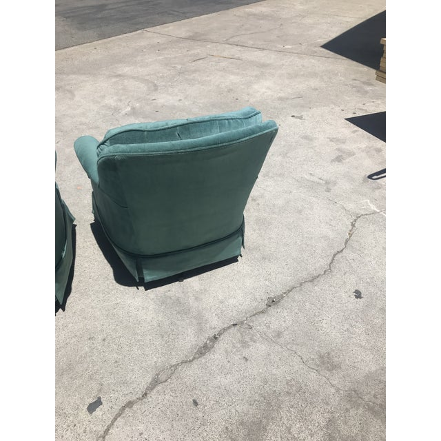 Vintage Swivel Rocking Chair For Sale In Los Angeles - Image 6 of 10