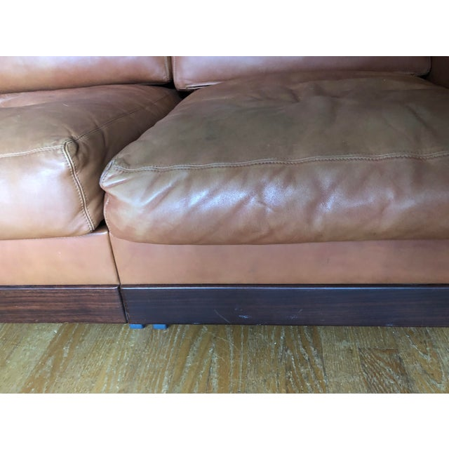 Mid-Century Modern Mid Century Modern Tobia and Afra Scarpa for Gavina 920 Italian Leather Rosewood Sofas - a Pair For Sale - Image 3 of 12