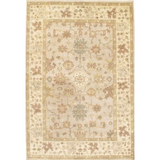 Pasargad Indian Hand Knotted Oushak Rug - 6' X 9' For Sale