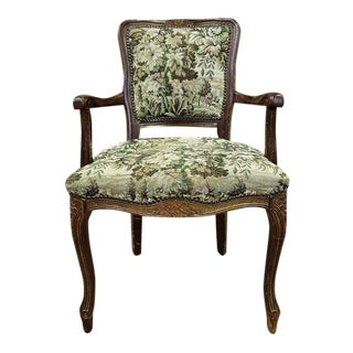 Antique French Louis XV Rococo Style Fauteuil Armchair For Sale