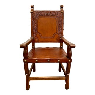 21st Century Spanish Colonial Revival Style Armchair For Sale