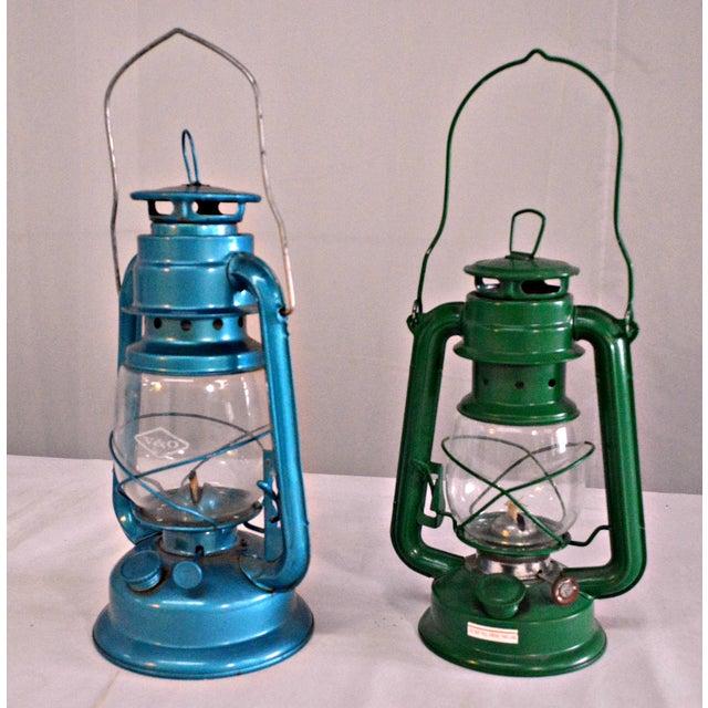 Winged Wheel Railroad Hanging Lanterns - A Pair - Image 6 of 7