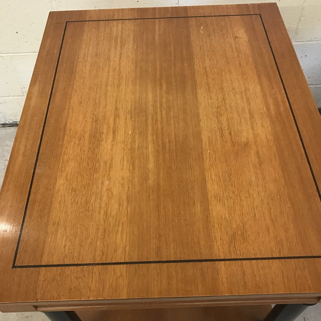 Neoclassical Style Wood End Tables - A Pair For Sale - Image 9 of 11