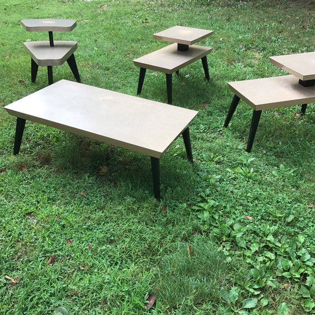 Antique Coffee Tables Ireland: Vintage Atomic Coffee Table & End Tables - Set Of 4