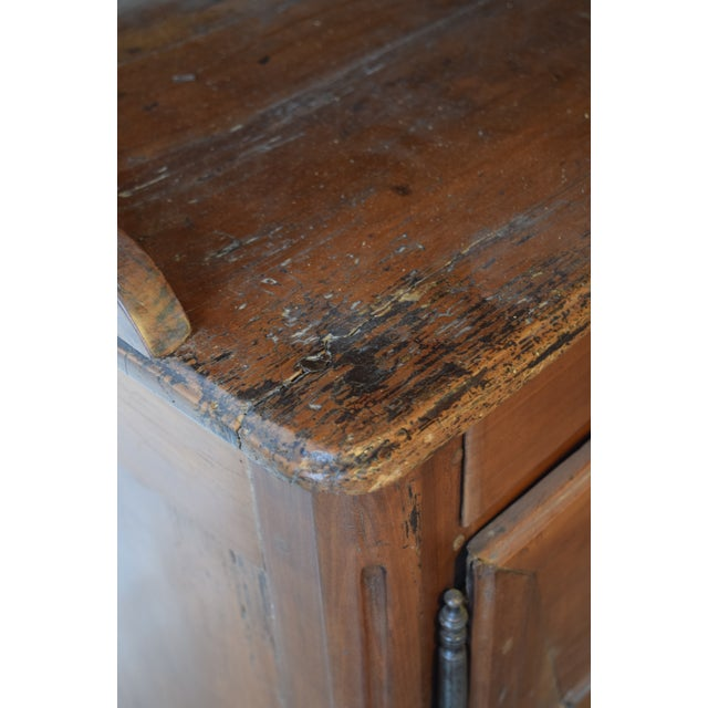 Metal 19th Century French Provincial Cherrywood Kitchen Cupboard For Sale - Image 7 of 8