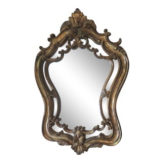 1960 French Louis XV Style Mirror Hanging Wall Mirror For Sale