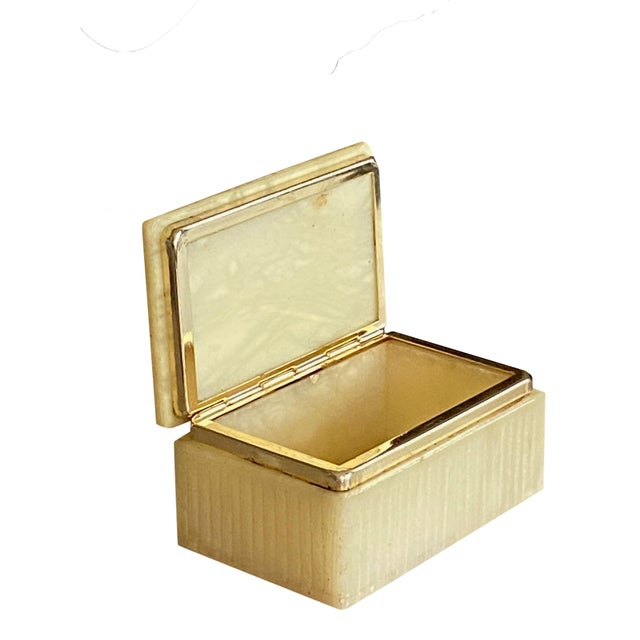 Art Deco Italian Alabaster Box For Sale - Image 4 of 7