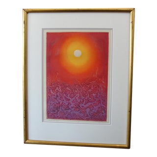 """Bowden """"Let There Be Light"""" Abstract Silkscreen For Sale"""