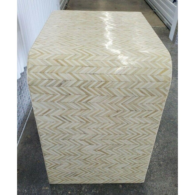 1970s Tessellated Bone Nightstand With Drawer For Sale - Image 9 of 13