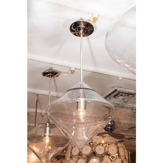 Pendants with Prism Globes For Sale In New York - Image 6 of 6