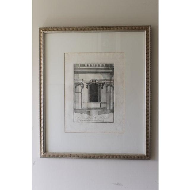Early 19th Century Antique Finestra Sopra La Porta Architectual Print For Sale - Image 10 of 10