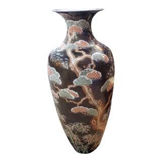 Large Antique Japanese Porcelain Vase For Sale