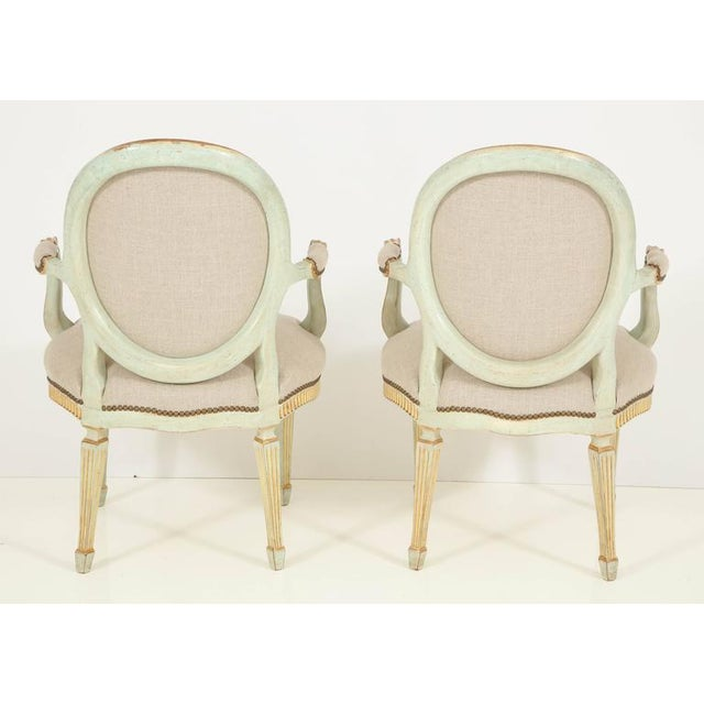 Pair of Louis XVI Style Fauteuils For Sale - Image 4 of 10