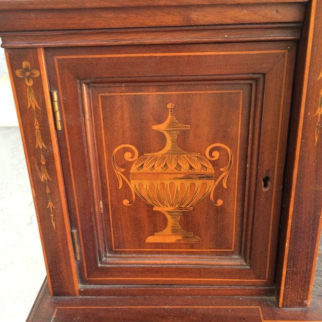 Antique Inlaid Wood Writing Desk - Image 11 of 11 - Antique Inlaid Wood Writing Desk Chairish