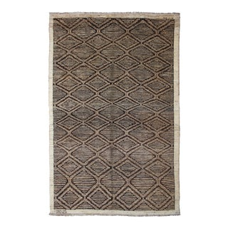 "Hand Knotted Navajo Style Rug - 8'8"" X 5'10"""
