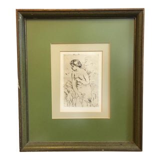 Renoir Etching, Circa 1919 For Sale