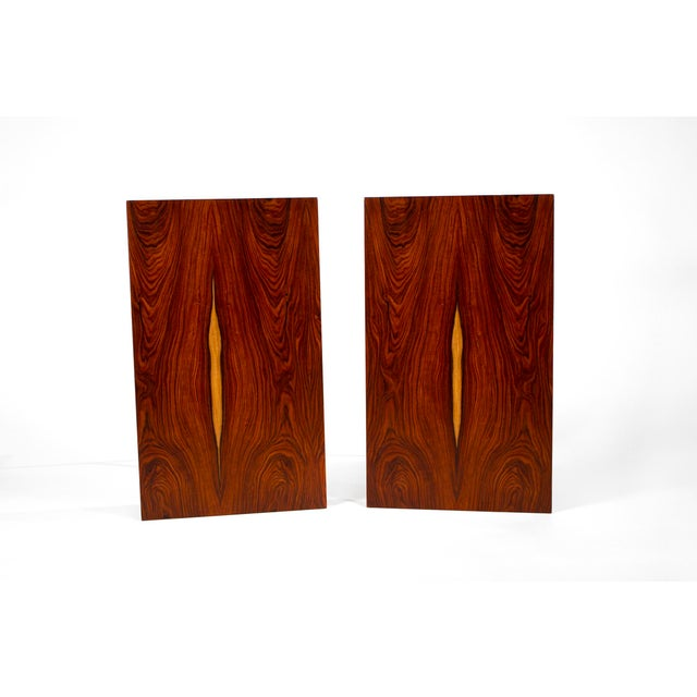 Mid-Century Modern Book-Matched Rosewood Side Tables by Paul McCobb for Calvin For Sale - Image 3 of 7