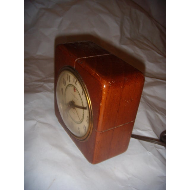 Art Deco Style General Electric Wood Alarm Clock - Image 6 of 9