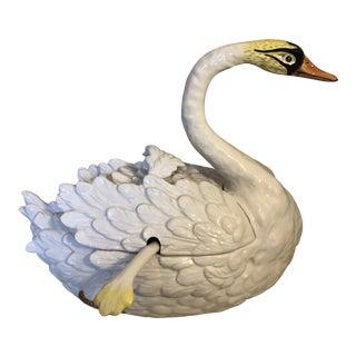 Bassano Ceramic Swan Tureen For Sale
