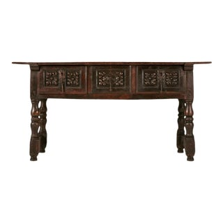 17th C. Spanish Console/Sofa Table For Sale