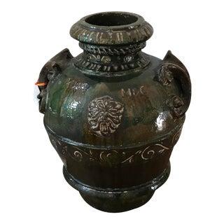 Antique Italian Majolica Pottery Vase For Sale