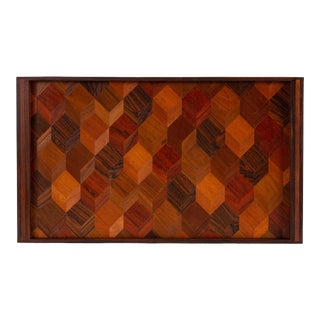 Trompe L'oeil Rosewood Tray by Don Shoemaker for Señal For Sale