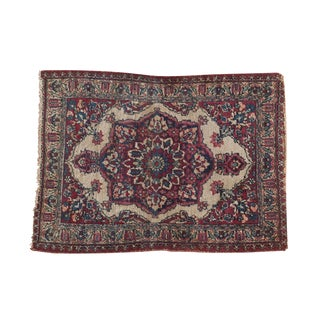 "Antique Kermanshah Square Rug Mat - 1'10"" x 2'7"""