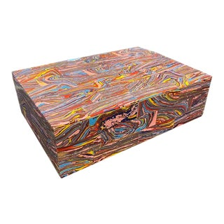 Large Rainbow Calsilica Box For Sale