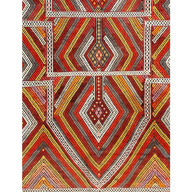 Circa 1940's Turkish Kilim Rug - 4′5″ × 6′3″ - Image 3 of 5