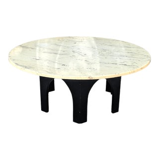Modern Harvey Probber Style Marble Top Coffee Table For Sale