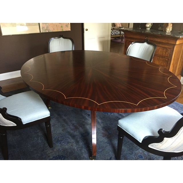 Oval Dining Table With 2 Leaves - Image 3 of 5