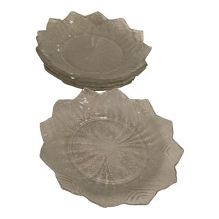 Embossed Textured Salad Plates - Set of 5 For Sale