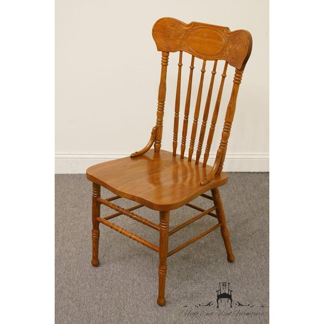 Traditional Lexington Furniture Victoriana Series Solid Oak Desk / Accent Chair 610-537 For Sale - Image 3 of 9