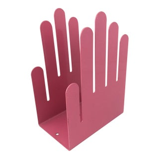 1980s Vintage Spectrum Division Hot Pink Hand Bookend For Sale