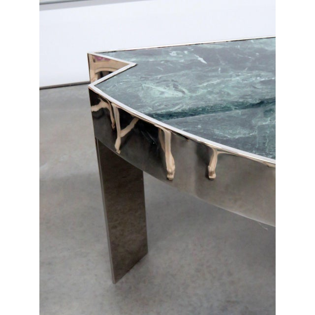 Mid-Century Modern Marble Top Chrome Desk Attr. Pace Collection For Sale - Image 3 of 11