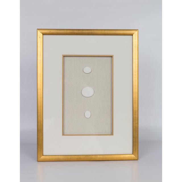 Framed Vintage Intaglios in Brushed Gold Frame For Sale - Image 4 of 5
