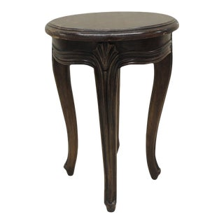 Vintage Round Tabouret With Louis XV Style Legs For Sale