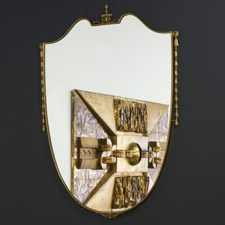 Large Brass Shield Mirror Preview