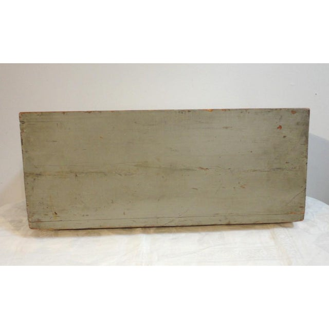 Rustic 19th Century Original Grey Painted Large Candle Box from New England For Sale - Image 3 of 8
