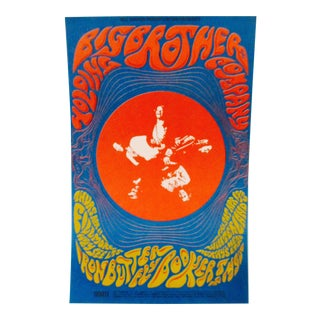 Psychedelic Bill Graham Big Brother and the Holding Company Postcard, BG 115