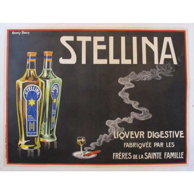 1930s Original French Advertisement Poster - Alcohol Poster - Stellina For Sale - Image 10 of 10