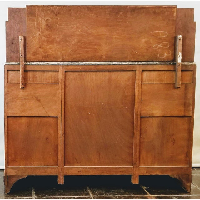 Antique French Oak Art Deco Sideboard With Mirrored Back Board For Sale - Image 4 of 13