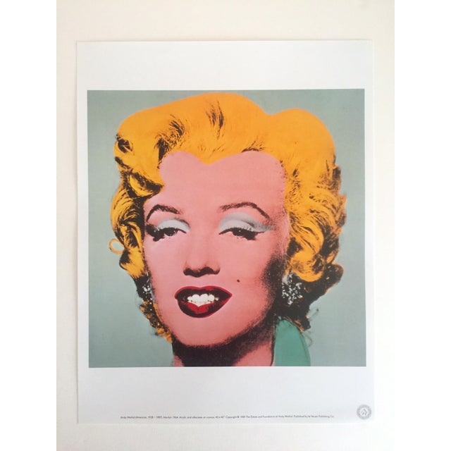 """Andy Warhol Andy Warhol Estate Rare Vintage 1989 Collector's Pop Art Lithograph Print """" Marilyn """" 1964 For Sale - Image 4 of 10"""