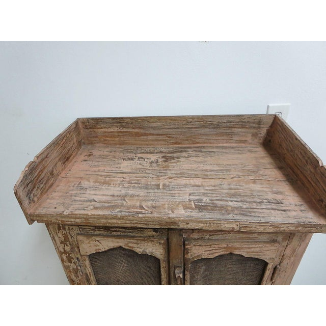 Antique Primitive China Cabinet Cupboard For Sale - Image 4 of 7