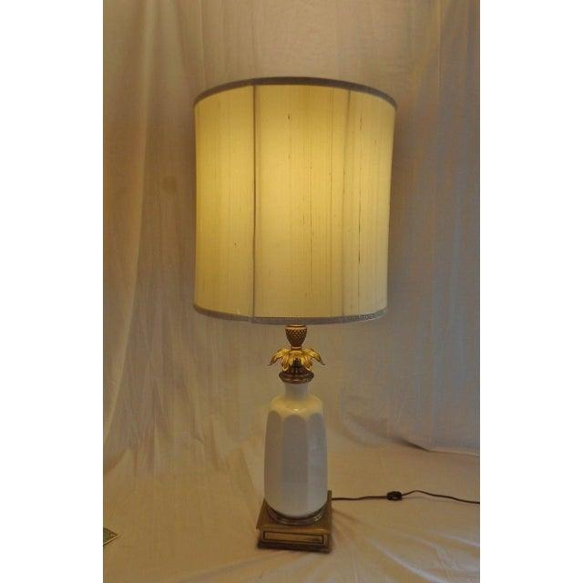 Stiffel Brass & Lenox Porcelain Table Lamp - Image 3 of 9