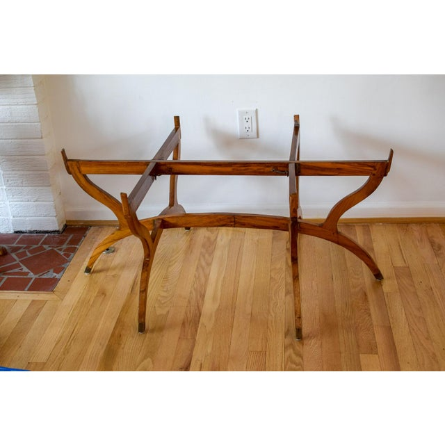 Islamic 20th Century Moroccan Brass Tray and Teak Spider Leg Table For Sale - Image 3 of 13
