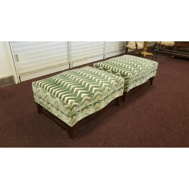 Traditional Classic Donghia Victoire Ottomans - a Pair For Sale - Image 3 of 13